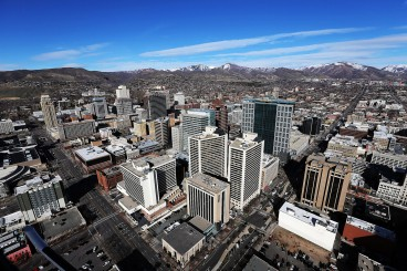 dnews Salt Lake City Skyline Aerial
