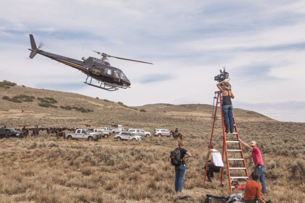 On the set of Yellowstone, filmed in Utah